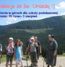 Wakacje ze św. Urszulą – Kolonie w górach